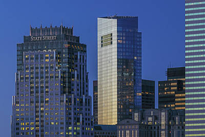 Photograph - Boston State Street And Millennium Tower by Juergen Roth