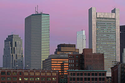 Photograph - Boston State Street, Boston Fed, One Financial Center, And Millennium Tower by Juergen Roth