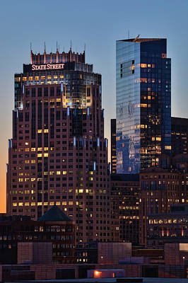 Photograph - Boston State Street Corporation And Millennium Tower by Juergen Roth