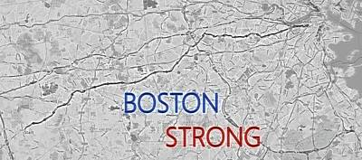 Mixed Media - Boston Strong by Dan Sproul