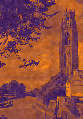 St Botolph St Photograph - Boston Stump - Old Style by Dave Parrott