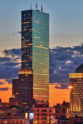 Photograph - Boston Sunset And Plywood Palace by Juergen Roth
