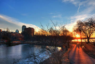 Photograph - Boston Sunset - Charles River Esplanade by Joann Vitali