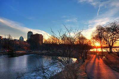 Photograph - Boston Sunset - Charles River Esplanade by Joann Vitali