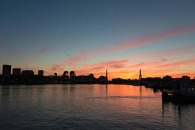 Photograph - Boston Sunset by Dave Files