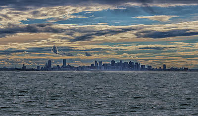 Photograph - Boston Sunset From The Harbor by Brian MacLean