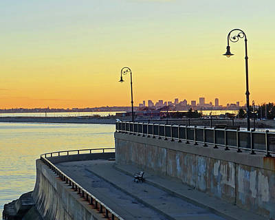 Photograph - Boston Sunset From The Lynn Waterfront by Toby McGuire