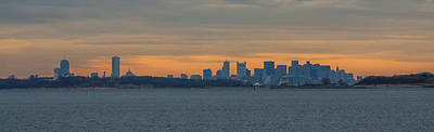 Photograph - Boston Sunset Panorama by Brian MacLean