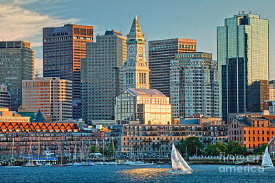 Boston Sunset Sail Art Print