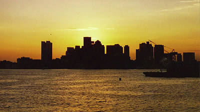 Photograph - Boston Sunset Silhouette  by Brian MacLean