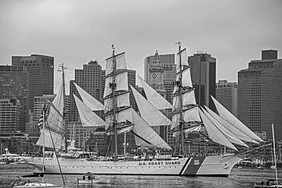 Photograph - Boston Tall Ships Coast Guard Ship Boston Ma by Toby McGuire