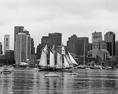 Photograph - Boston Tall Ships Parade 2017 Boston Ma by Toby McGuire