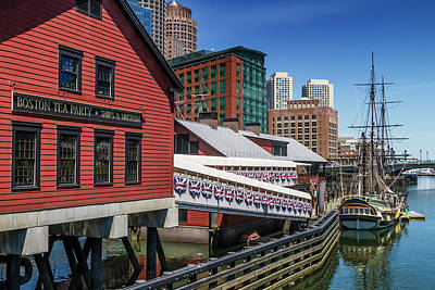 Tea Party Photograph - Boston Tea Party - Museum And Ship by Melanie Viola