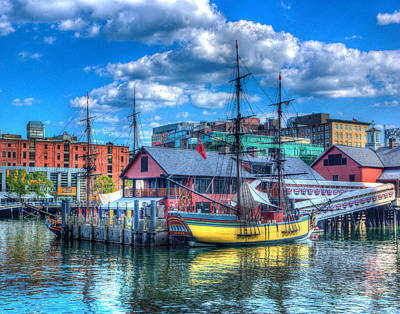 Photograph - Boston Tea Party Ship2 293 by Jeff Stallard