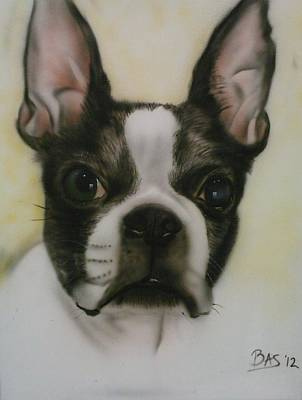 Painting - Boston Terrier by Bas Hollander