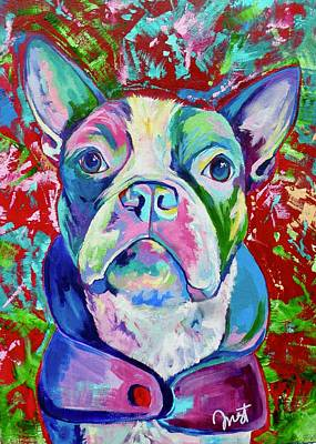Painting - Boston Terrier by Janice Westfall