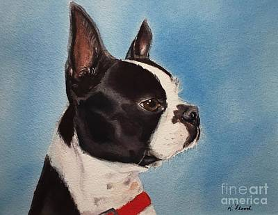 Painting - Boston Terrier by Kathy Flood