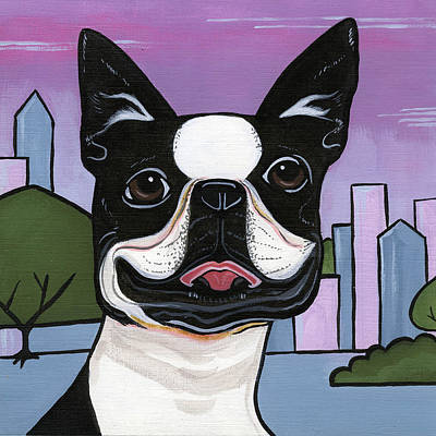 Painting - Boston Terrier by Leanne Wilkes