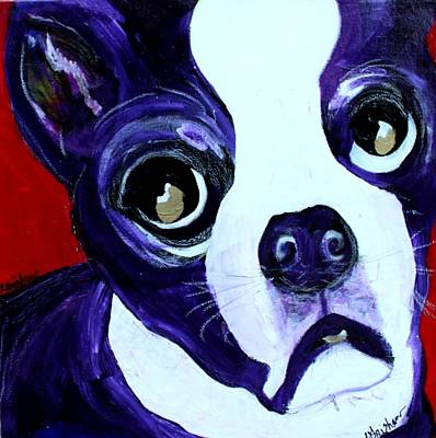 Painting - Boston Terrier- Lucy by Laura  Grisham