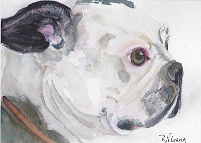 Boston Terrier Art Print by Raelene Vining