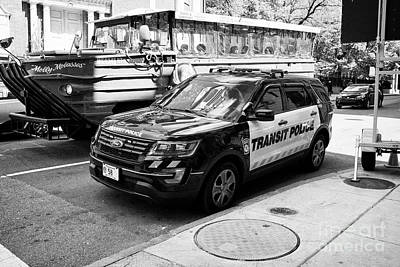 boston transit police ford interceptor suv patrol vehicle Boston USA Art Print