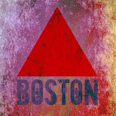 Boston Red Sox Mixed Media - Boston Triangle by Brandi Fitzgerald