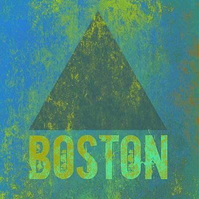 Boston Red Sox Mixed Media - Boston Triangle V2 by Brandi Fitzgerald