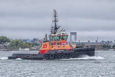 Photograph - Boston Tugboat Justice by Brian MacLean