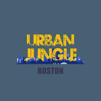 Boston Urban Jungle Shirt Art Print by Joe Hamilton