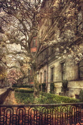 Spring Scenes Photograph - Boston Vintage Row Houses - Back Bay by Joann Vitali
