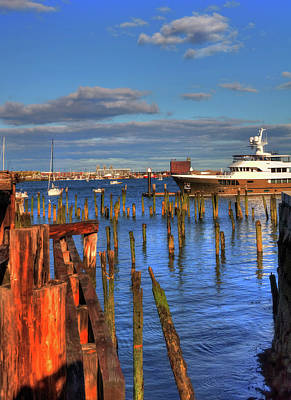 Photograph - Boston Waterfront - Lewis Wharf by Joann Vitali
