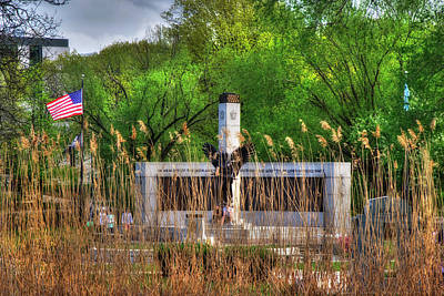 Photograph - Boston World War 2 Memorial - Back Bay Fens  by Joann Vitali
