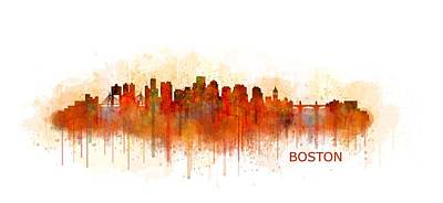 Boston City Skyline Hq V3 Original by HQ Photo