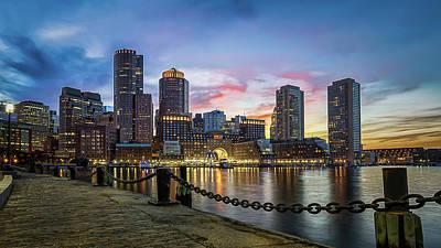 Photograph - Boston,ma Sunset by Dana Plourde