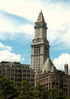 Photograph - Boston's Custom House  by Lori Pessin Lafargue