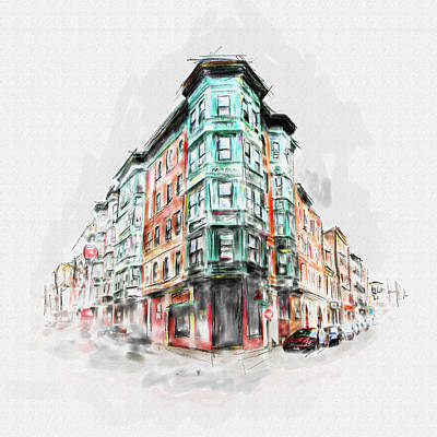 Bostons North End 222 1 Art Print by Mawra Tahreem