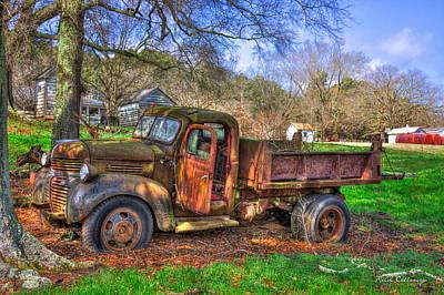 Boswell 1947 Dump Truck Farm Scene Art Print by Reid Callaway