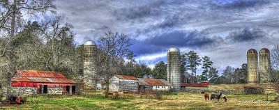 Boswell Farm Greene County Georgia Art Print by Reid Callaway