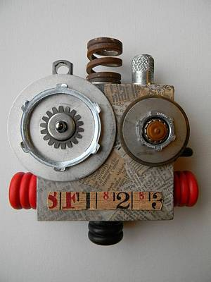 Mixed Media - Bot by Jen Hardwick