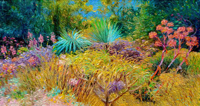 Digital Art - Botanic Garden At Majorca by Judith Barath