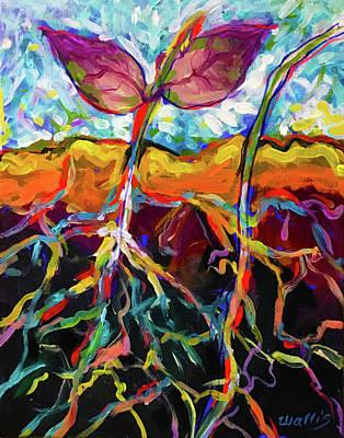 Wall Art - Painting - Botanical #3 by Charles Wallis