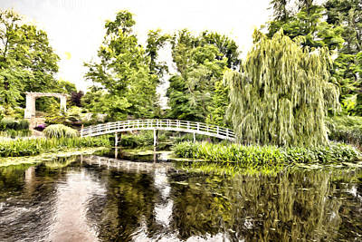 Photograph - Botanical Bridge - Monet by Anthony Baatz