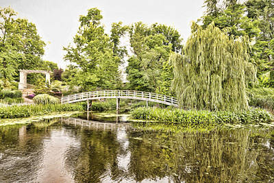 Photograph - Botanical Bridge - Van Gogh by Anthony Baatz
