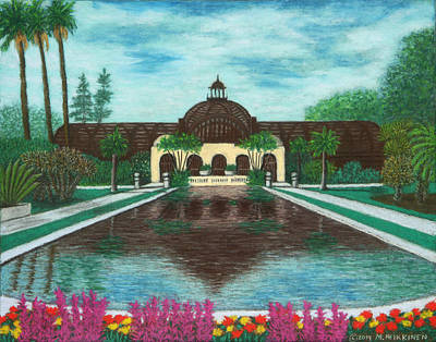 Pastel - Botanical Building In Balboa Park 02 by Michael Heikkinen