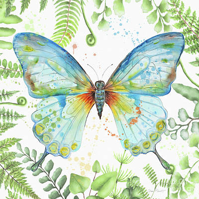 Painting - Botanical Butterfly Beauty 1 by Jean Plout