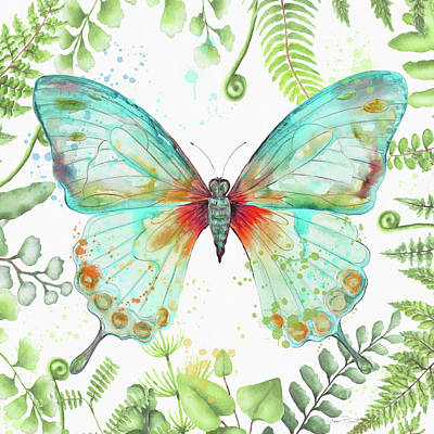 Painting - Botanical Butterfly Beauty 2 by Jean Plout