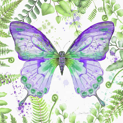 Painting - Botanical Butterfly Beauty 4 by Jean Plout