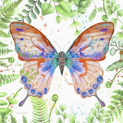 Painting - Botanical Butterfly Beauty 5 by Jean Plout