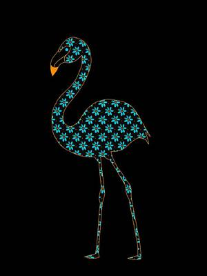 Digital Art - Botanical Flamingo by Kathleen Sartoris