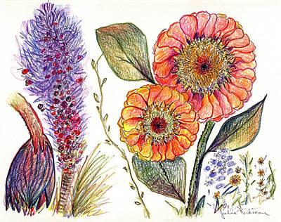 Botanical Flower-49 Art Print by Julie Richman